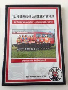 Ortsfeuerwehr Bad Bentheim erreicht den 17. Platz beim Landesentscheid
