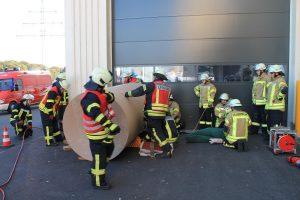 Kreisfeuerwehrbereitschaft Grafschaft Bentheim probt den Ernstfall in Damme