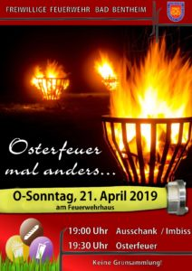 Osterfeuer Freiwillige Feuerwehr Bad Bentheim @ Feuerwehrhaus Freiwillige Feuerwehr Bad Bentheim | Bad Bentheim | Niedersachsen | Deutschland