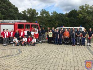 Jugendfeuerwehr und Jugendrotkreuz proben gemeinsames Einsatzszenario