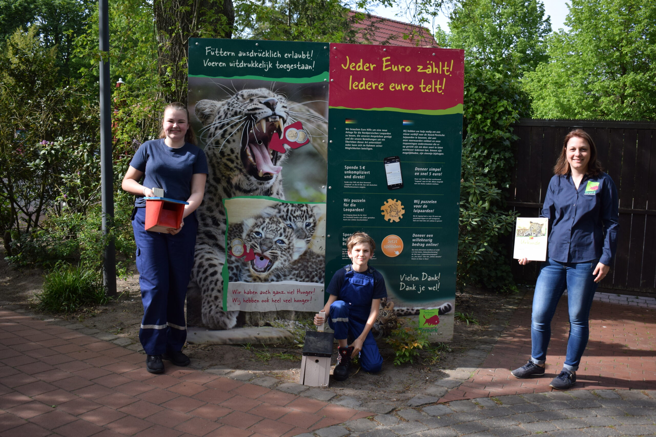 Jugendfeuerwehr Bad Bentheim übernimmt Patenschaft für Nordpersische Leopardin