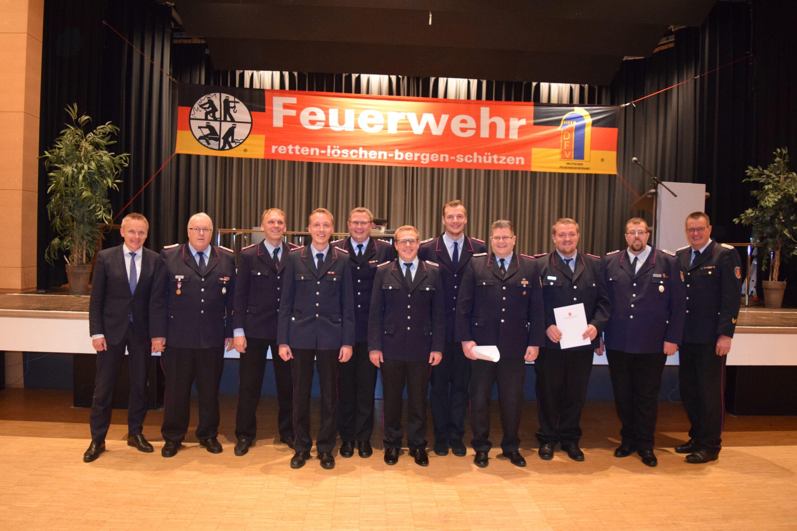 Jahreshautpversammlung Freiwillige Feuerwehr Bad Bentheim 2021